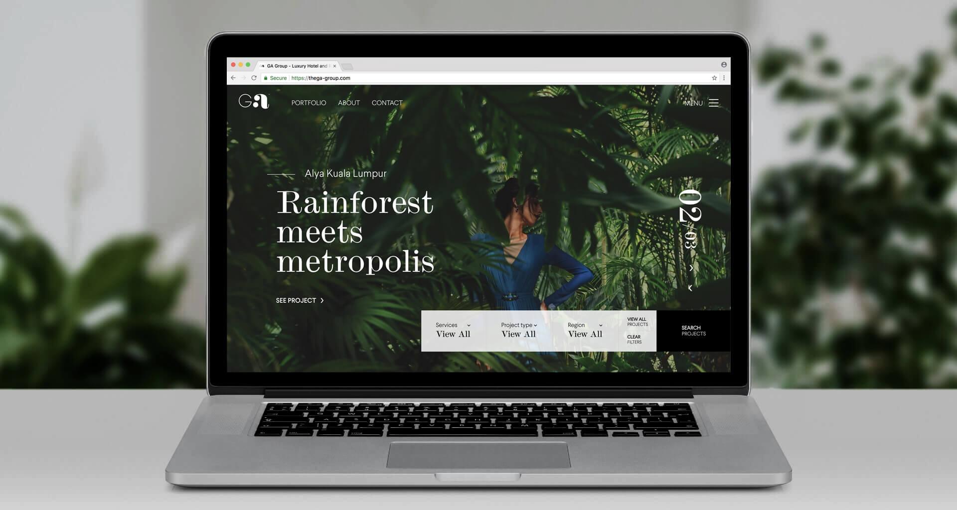 g.a group website